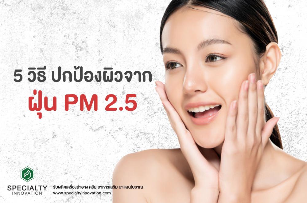 5 วิธีปกป้องผิวจากฝุ่น PM 2.5