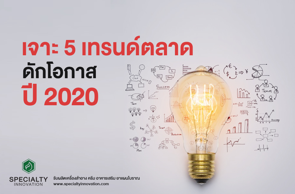เจาะ 5 เทรนด์ตลาด ดักโอกาสปี 2020
